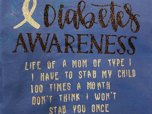 Diabetes awareness shirt