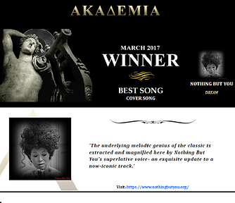 'Dream' BEST COVER SONG March 2017, The Akademia Awards