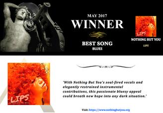 "AKADEMIA AWARD Winner May 2017 Best Song Blues""LIPS"""