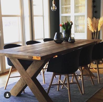 Spisebord før mikrosement