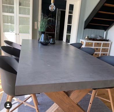 Spisebord etter mikrosement