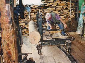 Alte Holzsäge