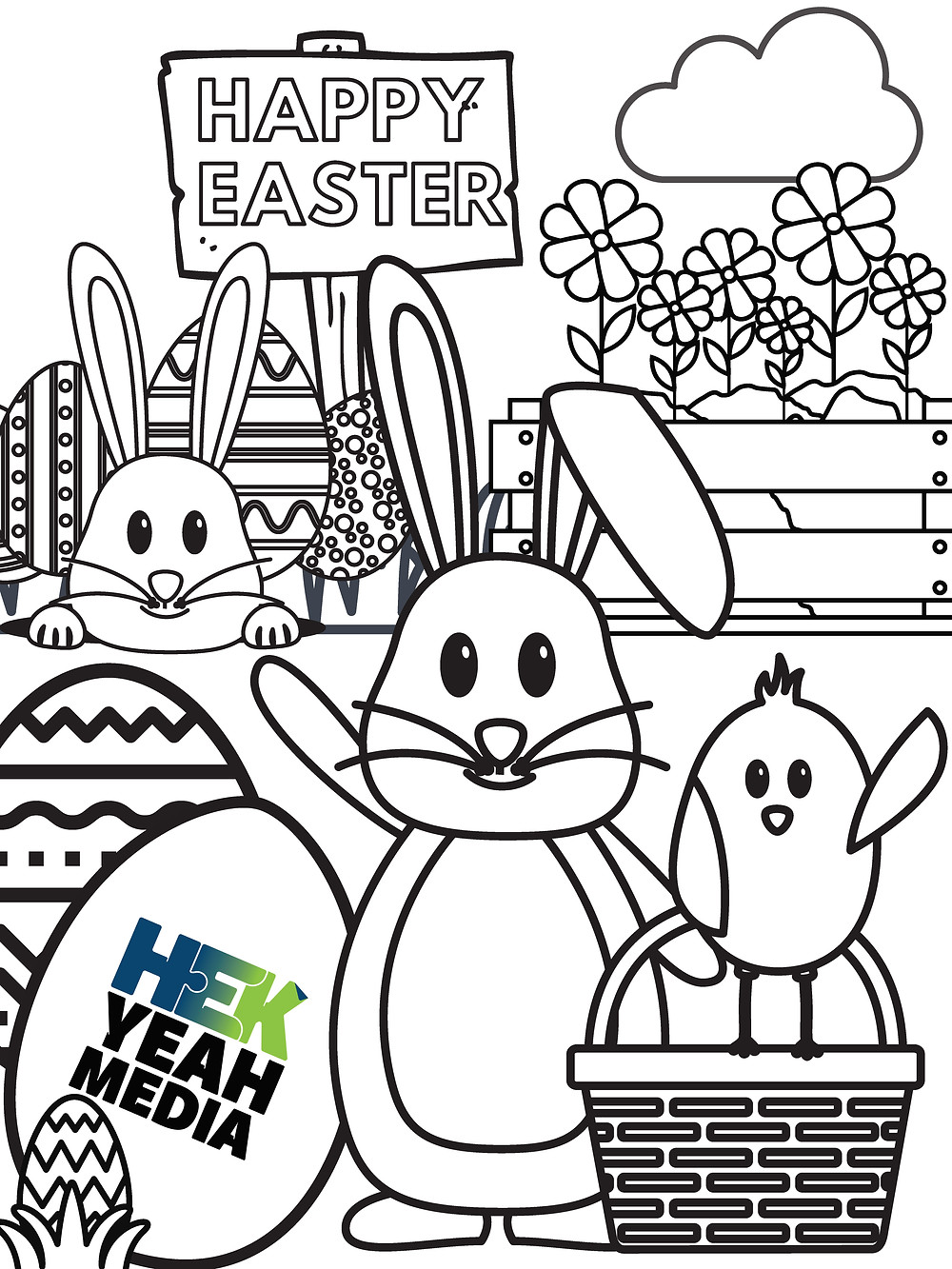 Host a household colouring contest this Easter long weekend by downloading this design and tag us in your social media posts with your finished creation.