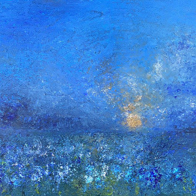 Bluebonnets in the Moonlight
