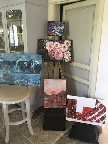 Exhibition of paintings created during Provene panting vacation hosted by Wietzie in Lorgues, Provence