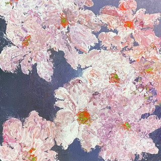 This painting is in the permanent exhibition at Yudian Art gallery, China  Japanese Anemones