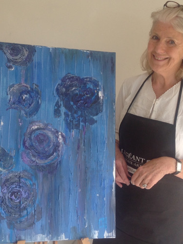 Artist taking part in Wietzie's Painting vacation in Provence