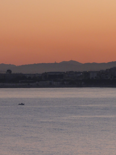 Sunset over the Provence coast