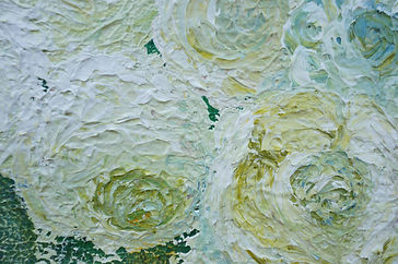 White roses original acrylic abstract painting by Wietzie