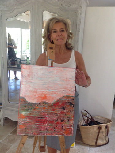 Happy artists at Provence painting vacations
