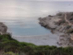 Painting an abstract seacsper en-plein air with Wietzie in Saint Tropez