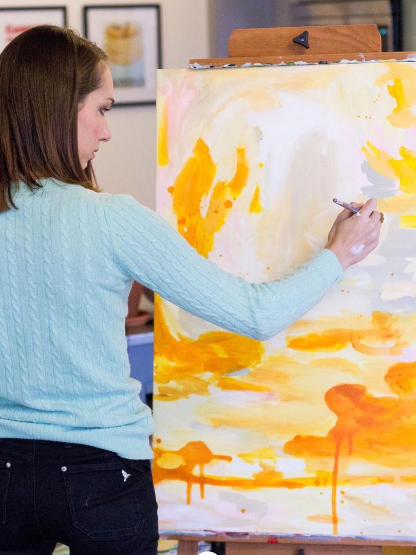 In studio painting