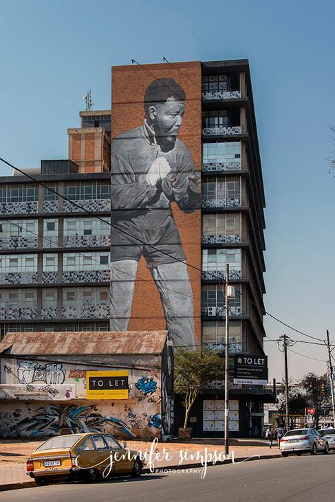 Graffiti ~ Nelson Mandela as a young man