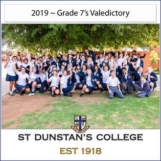 2019 Gr 7's Valedictory