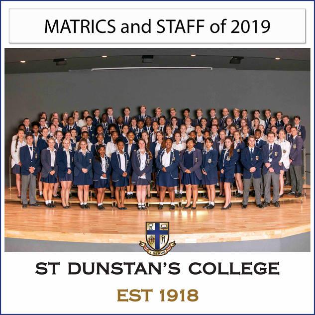 2019 Matrics & Staff