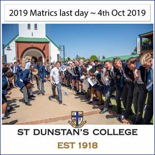 2019 Matrics last day