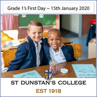 2020 Gr 1's first day at School