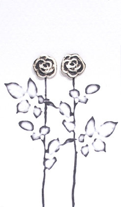 Rose earrings (Black &  White)