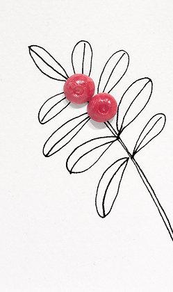 Lingonberry earrings