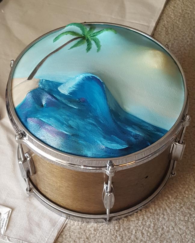 Drumming Waves (Sold)