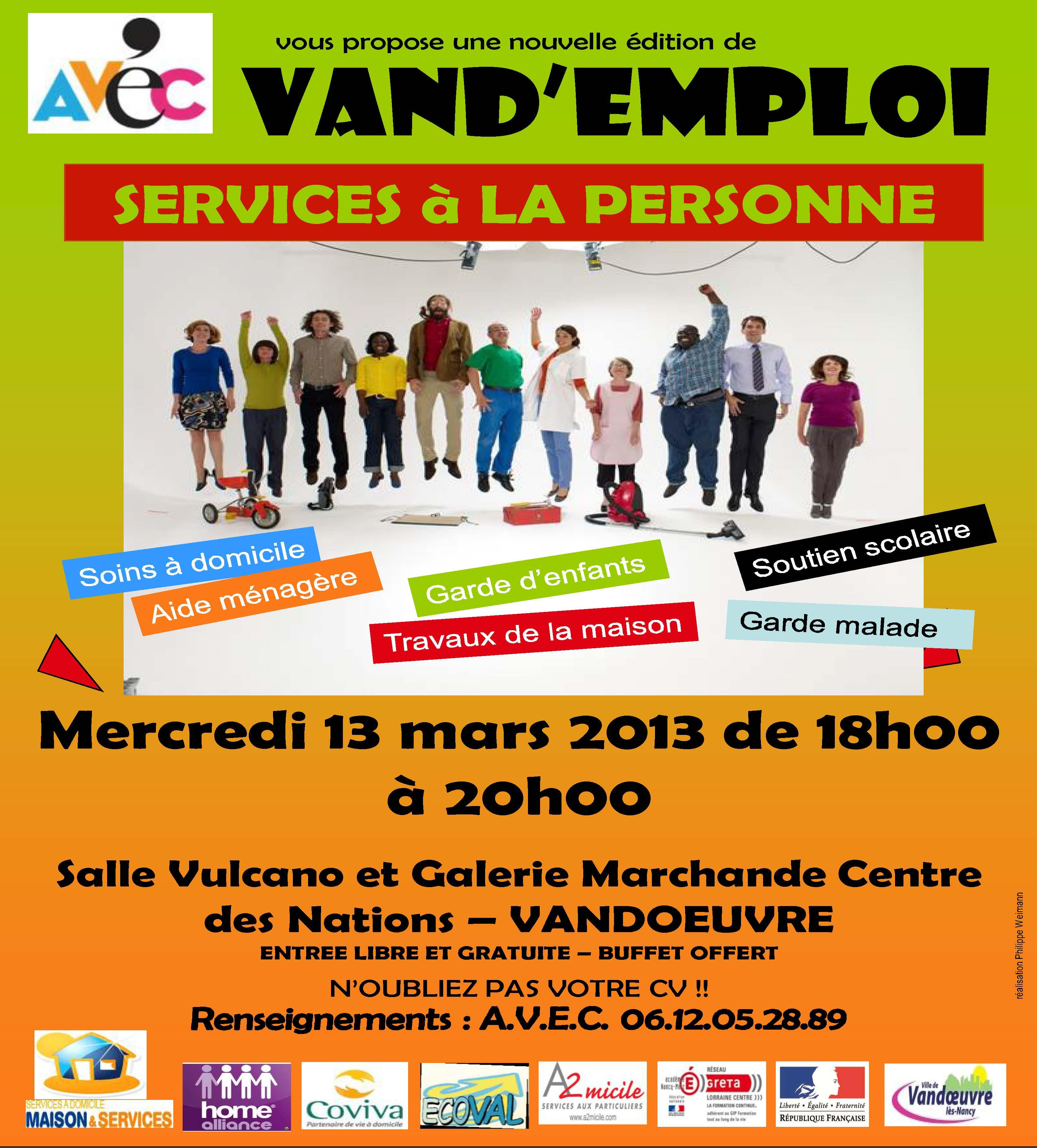 Service à la personne-mars 2013