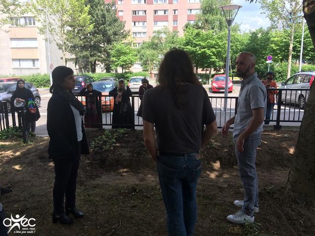 Séance d'information et de formation au compost pour le jardin partagé du projet de l'Association d'