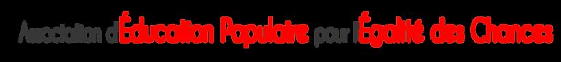 slogan 17122019.png; Association d'Education Populaire pour l'Egalité des Chances AVEC