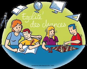 Accompagnement à la scolarité; Association AVEC; Egalité des chances; CLAS; Education populaire