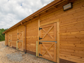Cedar Horse Barn with Office