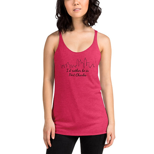 I'd Rather Be In Port Charles Racerback Tank