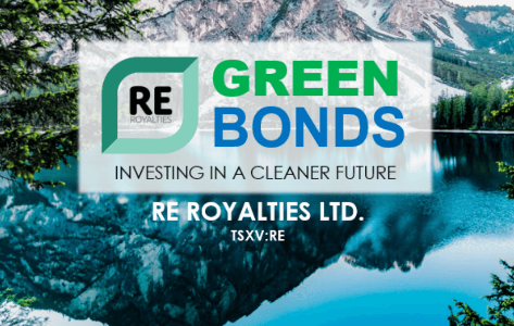RE Royalties Announces $5.5 Million First Tranche Closing of Inaugural Green Bonds