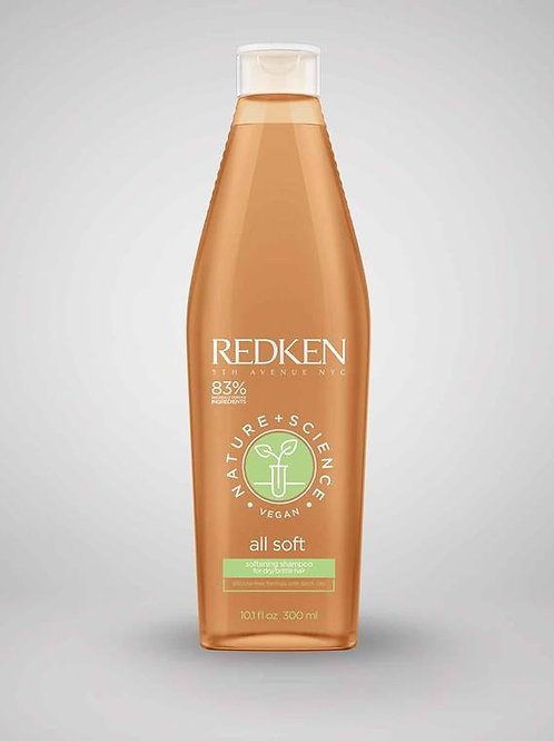 Redken All Soft Science & Nature Shampoo 300ml