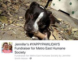Jen's #MEHSYappyPawlidays Fundraiser