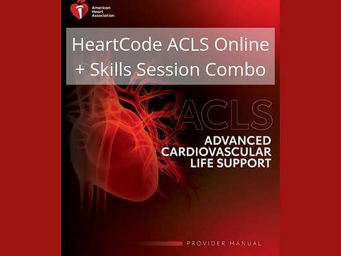 HeartCode® ACLS Online (online course + skills session)