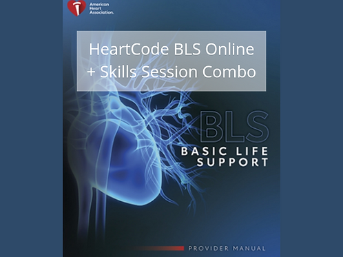 HeartCode® BLS Online (online course + skills session)