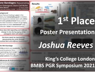 1st Place Poster Presentation-Josh Reeves