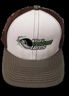 BROWN/WHITE/GREY TRUCKER HAT