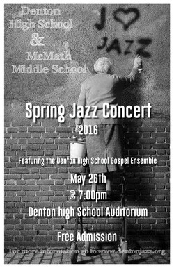 Spring Jazz Concert Poster 2016