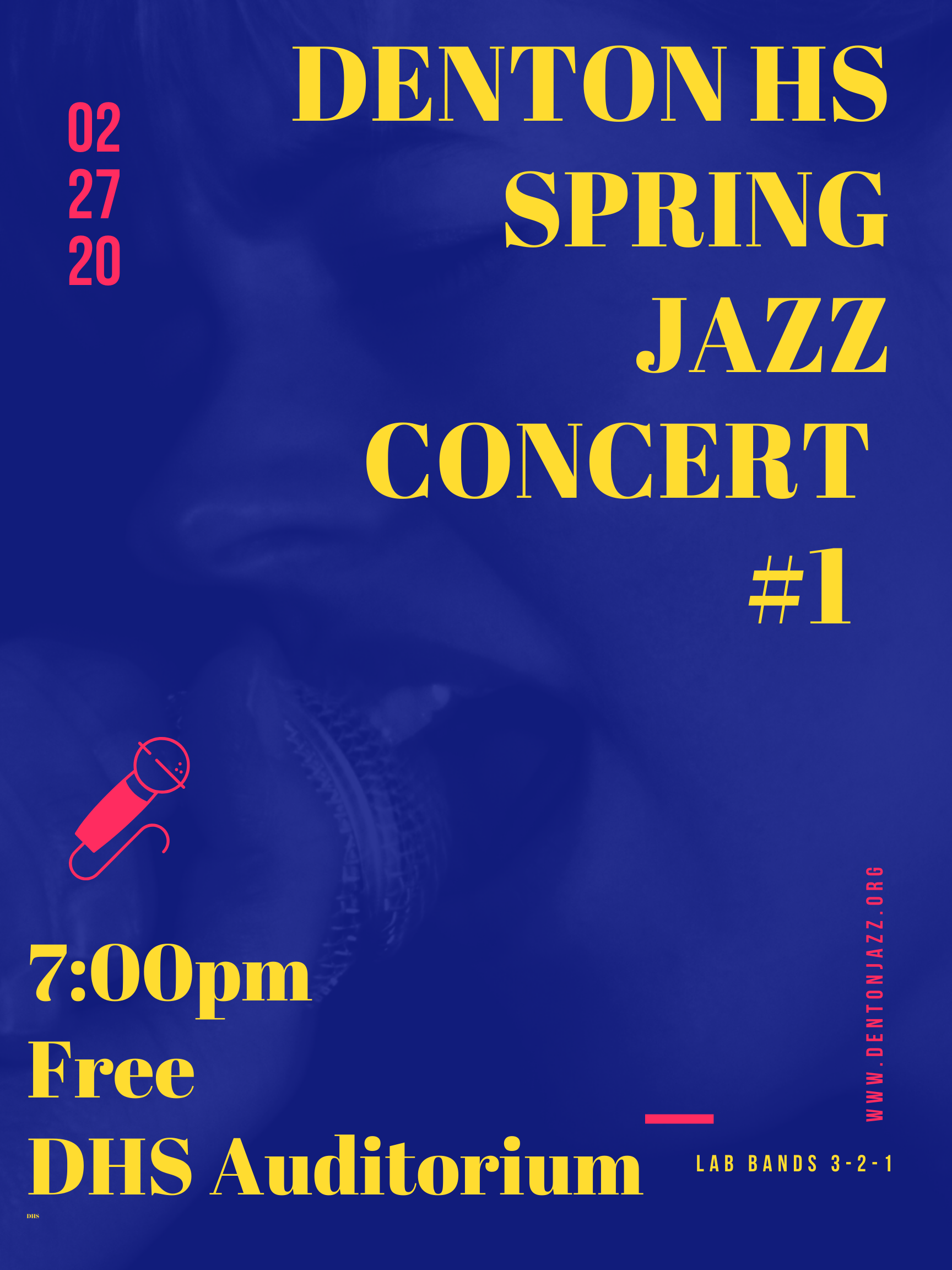 Blue & Yellow Bright Jazz Poster (1)