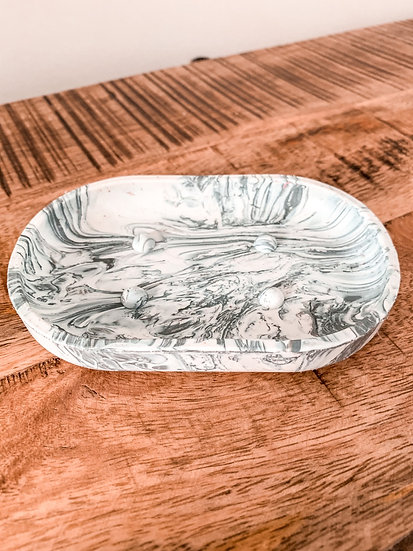 Plastic Waste Soap Dish (mountain grey)