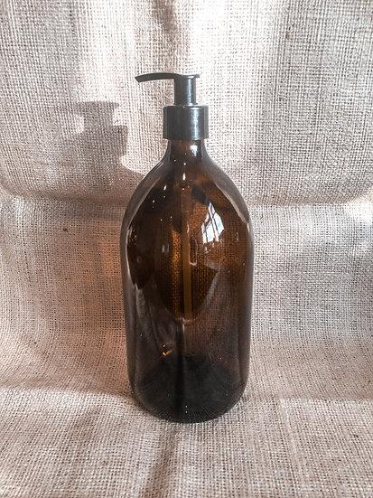 Pump Top Glass Bottle