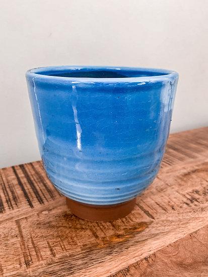Blue House Plant Pot