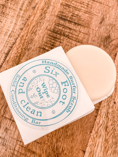 Wipe Out Hair Conditioner Bar- (Six Foot & Clean)