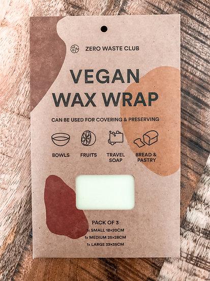 Vegan Plant Wax Wrap - Pack of 3