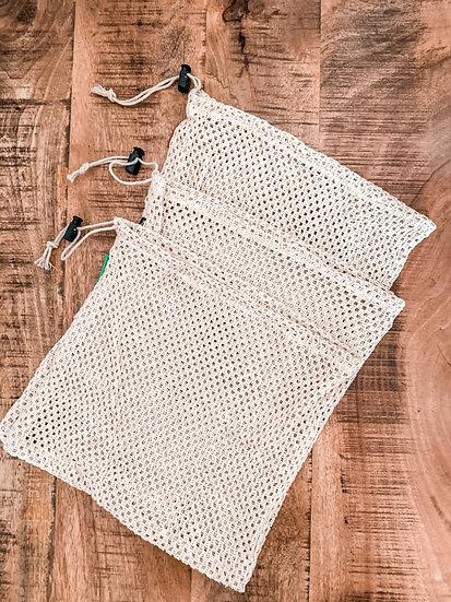 Reusable 100% Cotton Mesh Produce Bags