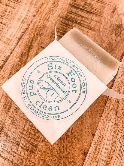 Clean Overhead Shampoo Bar-(Six Foot & Clean)