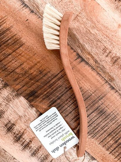 Wooden Dish Brush with Plant Bristles (FSC 100%)