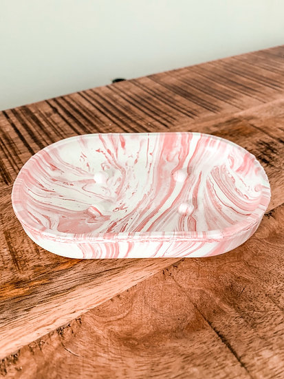Plastic Waste Soap Dish (coral pink)