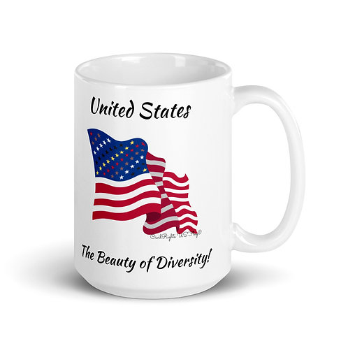 US the Beauty of Diversity, Civil Rights US-Flag Mug 1