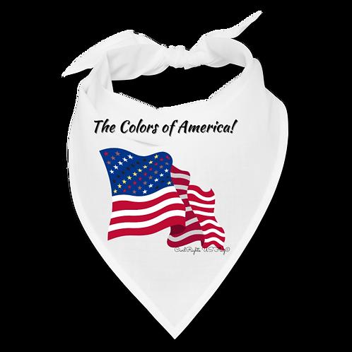 The Colors of America, White Civil Rights US-Flag Bandana